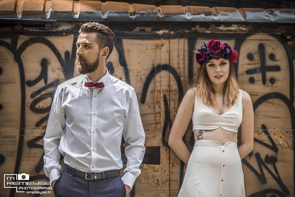 Alice Marty Fleuriste mariage Albi Toulouse Couronne mariée collection violet rouge marine bordeaux