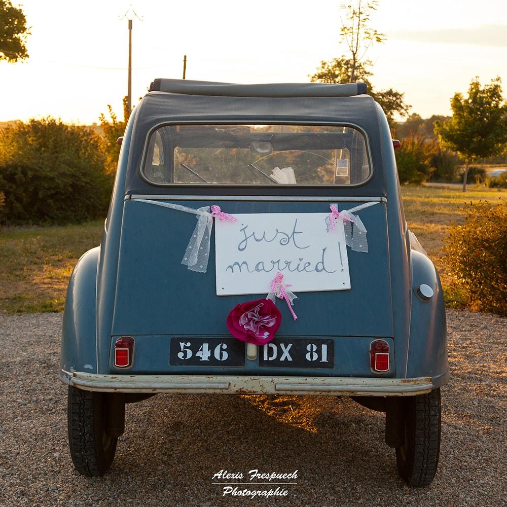 Alice Marty Fleuriste mariage Albi Toulouse Déco voiture