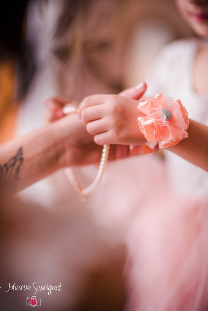 Alice Marty Fleuriste mariage Albi Toulouse Collection peach and mint Bracelet demoiselle d'honneur