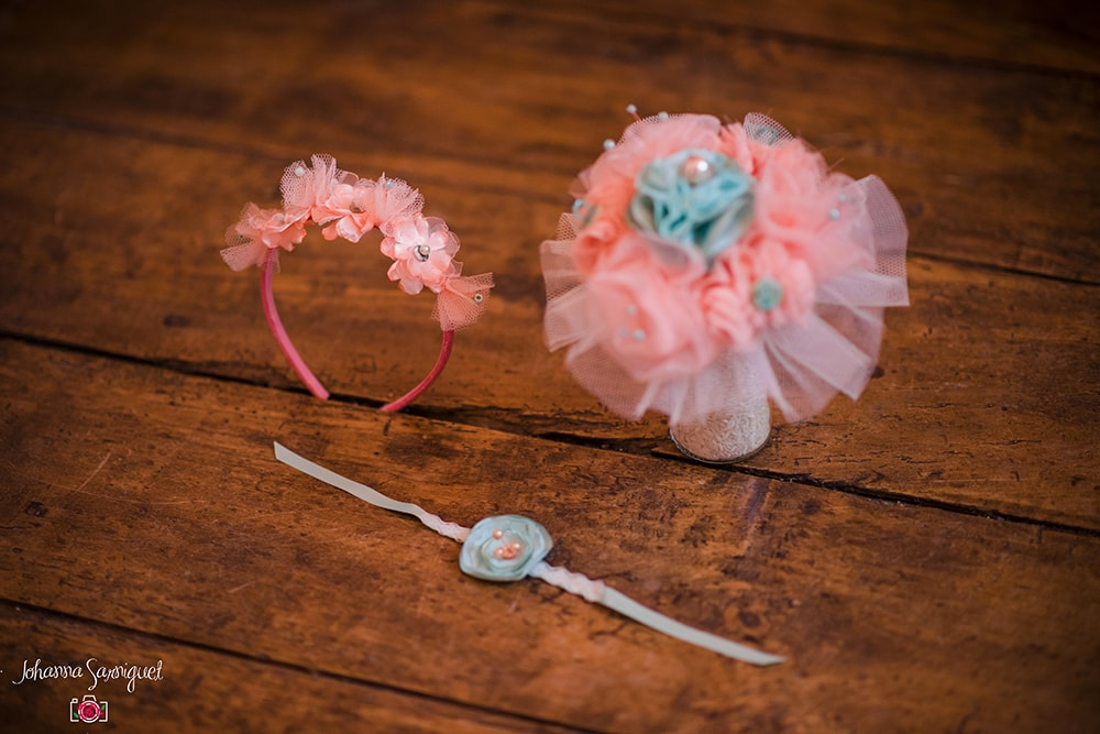 Alice Marty Fleuriste mariage Albi Toulouse Collection peach and mint Bouquet bracelet couronne