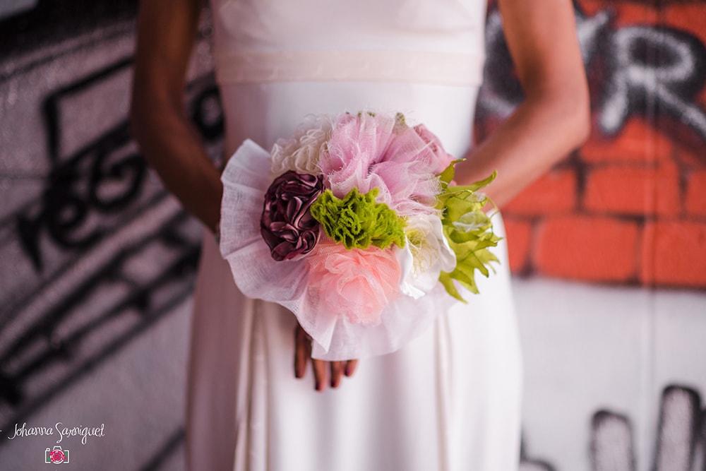 Alice Marty Fleuriste mariage Albi Toulouse Bouquet mariée collection rose vert ivoire