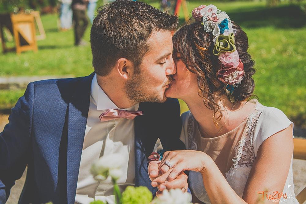 Couronne mariée Boutonnière marié Alice Marty Fleuriste mariage Albi Toulouse