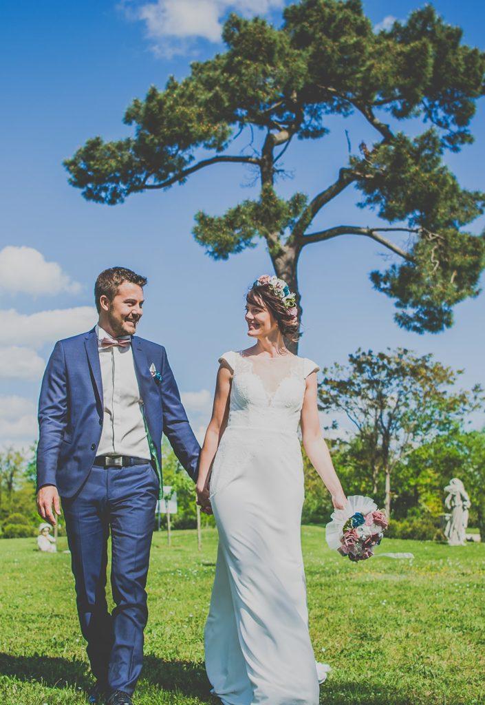 Bouquet mariée Albi Toulouse Alice Marty Fleuriste mariage Bouquet tissu Couronne de fleurs
