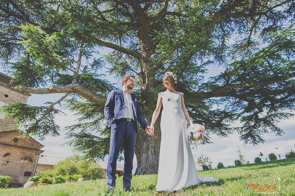 Bouquet mariée Toulouse Alice Marty Fleuriste Mariage Bouquet tissu Rose bleu vert ivoire