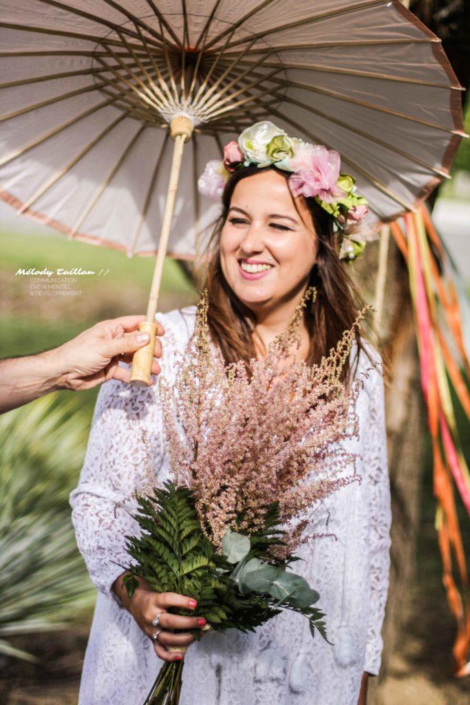 Mariage Toulouse Alice Marty Couronne mariée Accessoires Fleurs en tissu