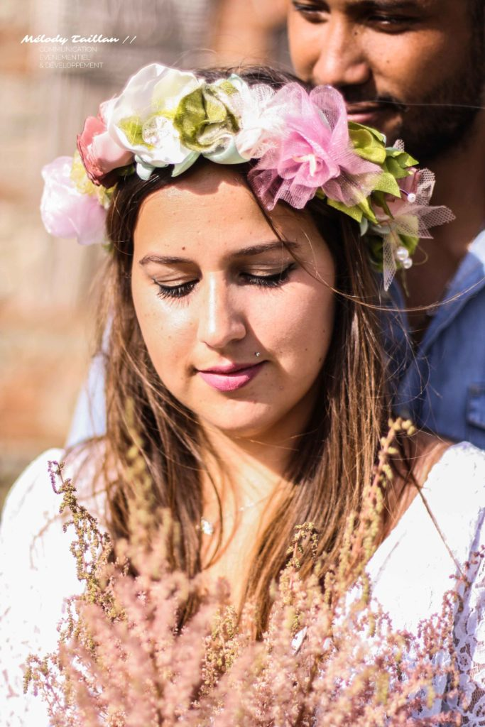 Mariage Albi Alice Marty Couronne mariée Bouquet mariée Fleuriste textile