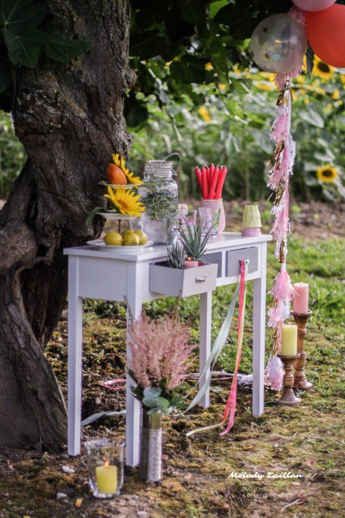 Mariage Albi Alice Marty Fleuriste textile Déco champêtre