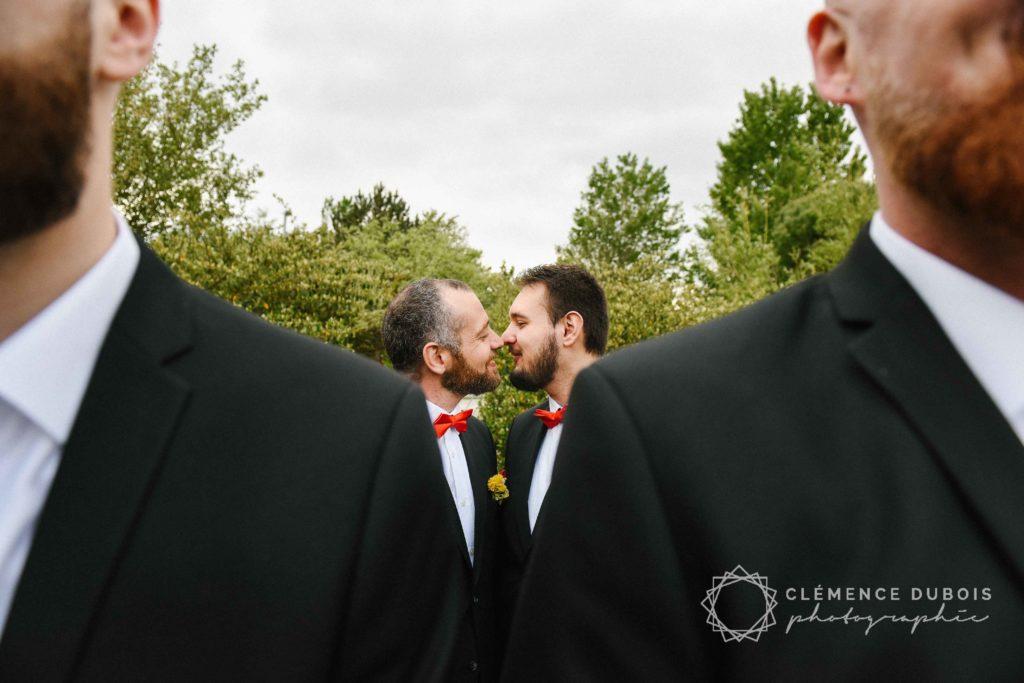 Mariage gay Boutonnières fleurs artificielles Alice Marty Toulouse Albi