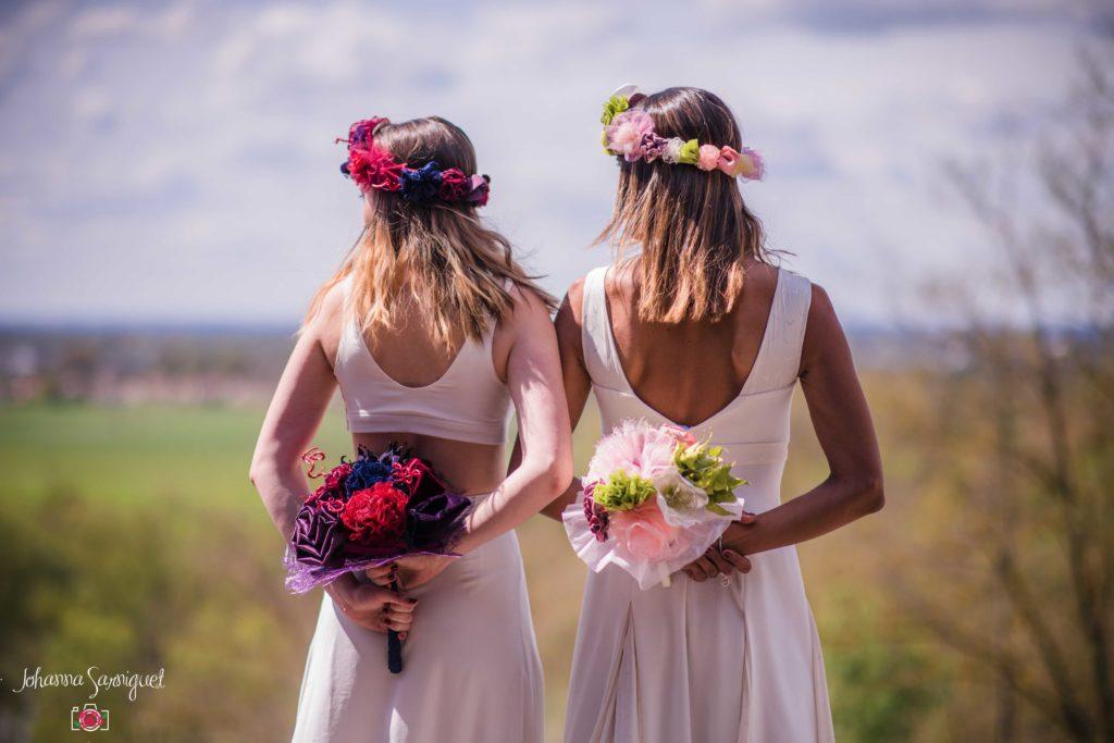 Alice Marty Bouquets mariée Mariage Couleurs pastel vert rose blanc Couleurs vives rouge bleu marine violet