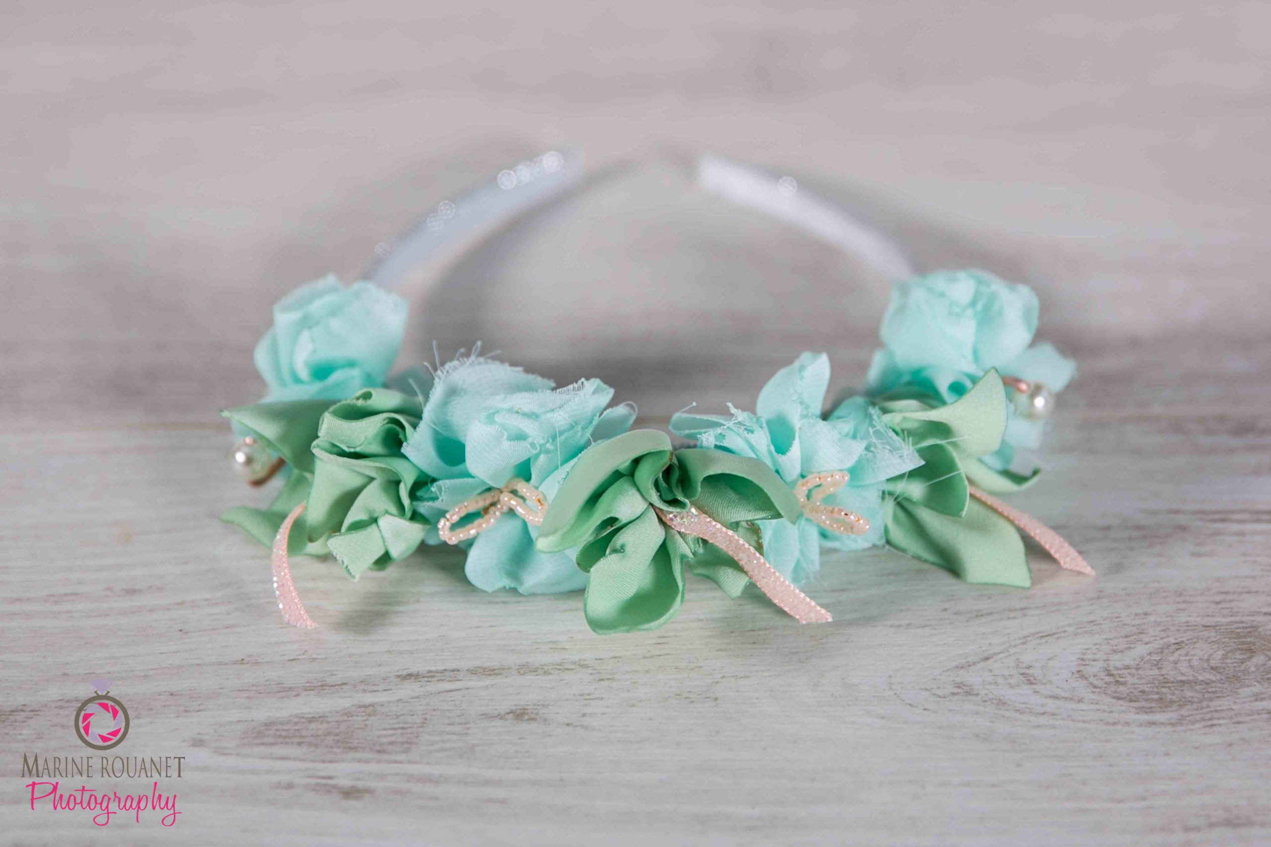 Arty Malice Fleuriste mariage Albi Toulouse Couronne cortège Collection vert menthe