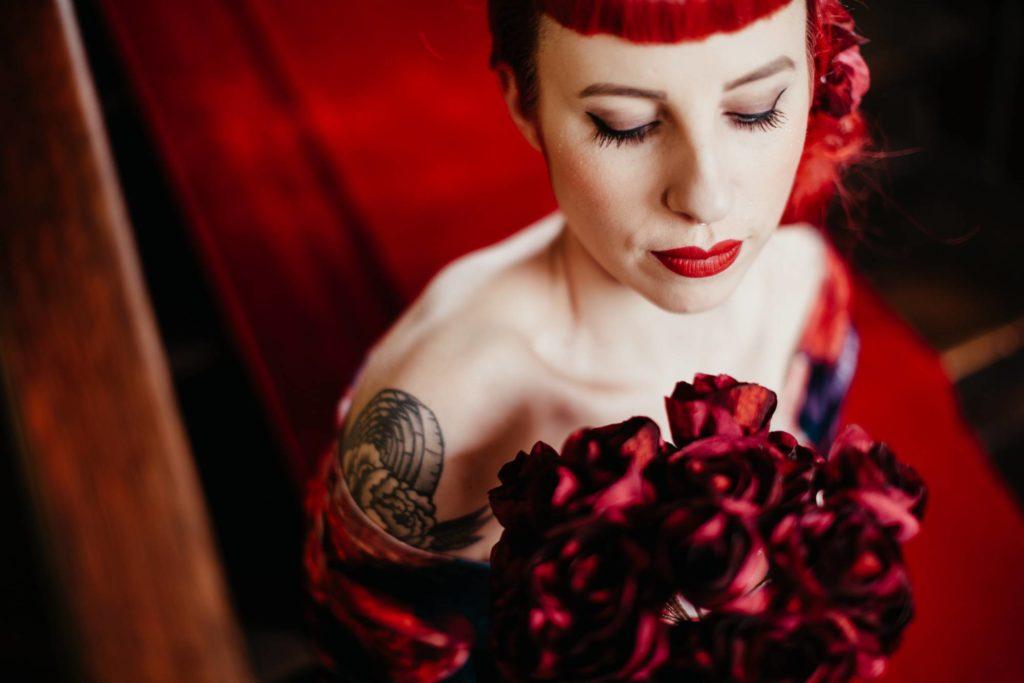 Bouquet de roses Alice Marty Fleuriste textile Albi Toulouse crédit photo ©Barth Photographie