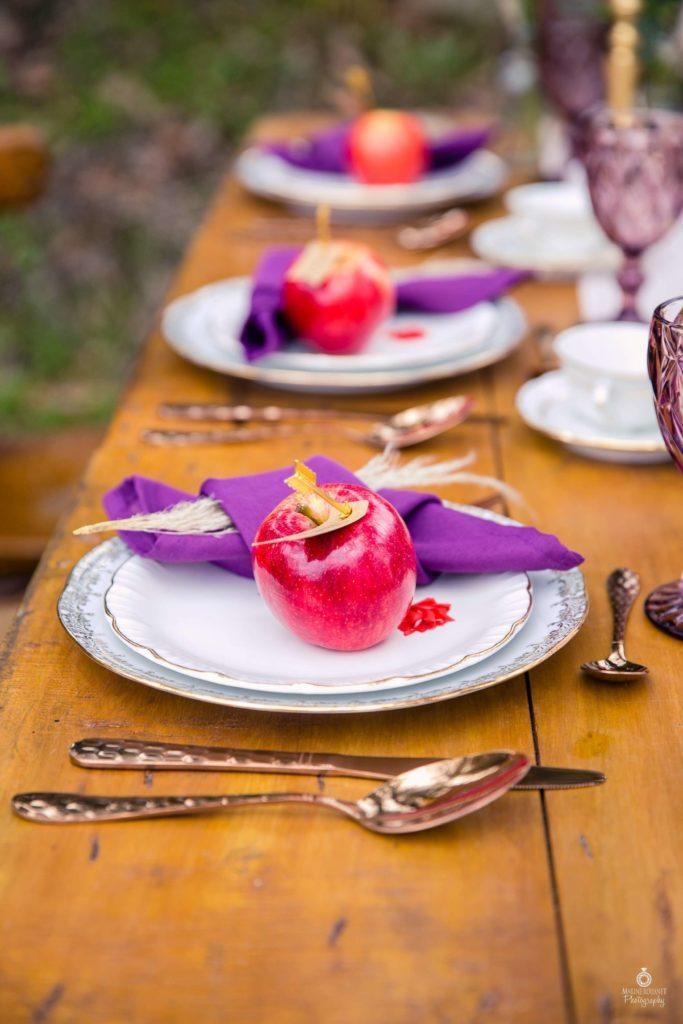 Déco de table mariage d'automne Alice Marty Fleuriste textile Toulouse Albi