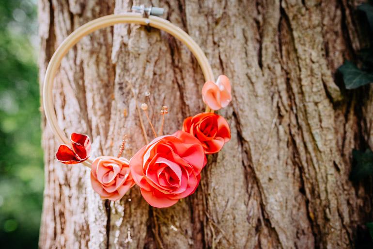 Cercle fleuri décoration mariage Alice Marty Accessoires mariage Toulouse Albi Bordeaux