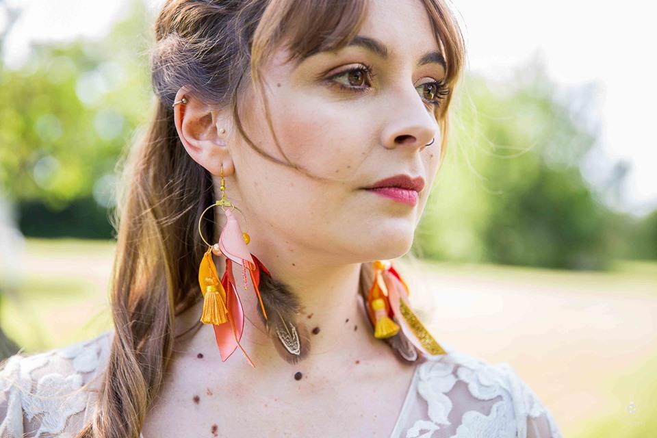 Boucles d'oreilles boho Alice Marty Accessoires mariage Toulouse Albi Bordeaux
