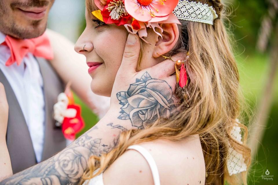 Mariés boho Headband coloré Alice Marty Accessoires mariage Toulouse Albi Bordeaux