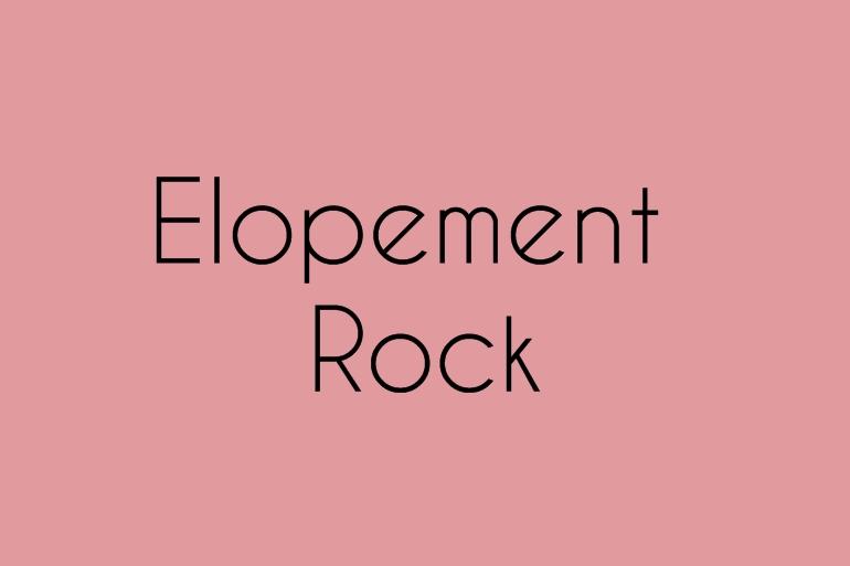 Elopement rock Alice Marty