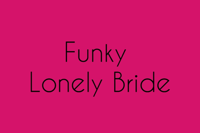 Funky lonely bride Alice Marty