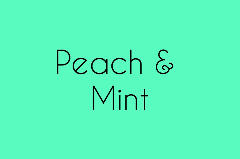 Peach and Mint Alice Marty