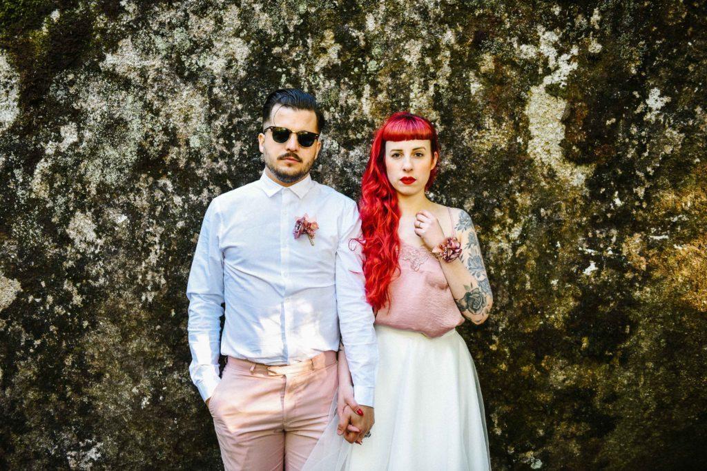 Couple tatoué rock Alice Marty Accessoires mariage Toulouse Albi Bordeaux