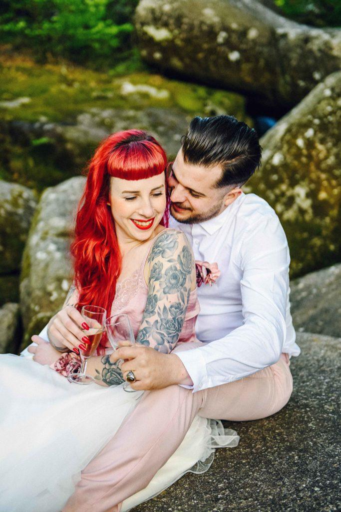 Sénace engagement rock Alice Marty Accessoires mariage Toulouse Albi Bordeaux