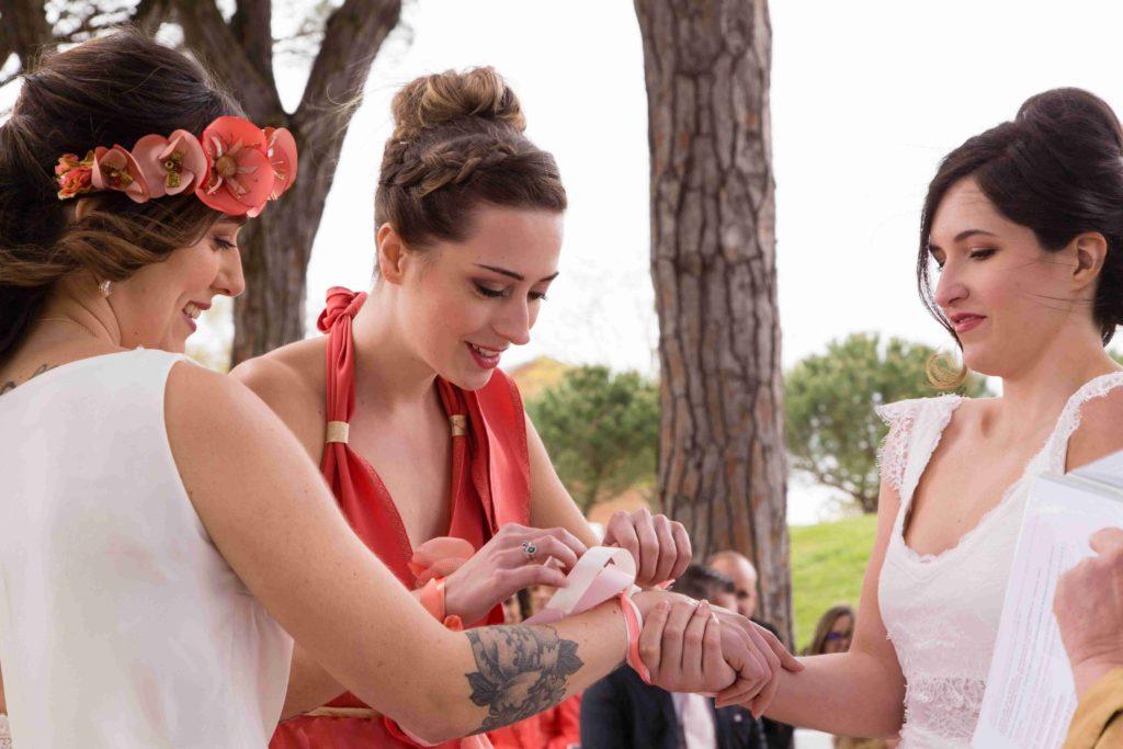 Cérémonie rubans Alice Marty Accessoires mariage Albi Toulouse Bordeaux