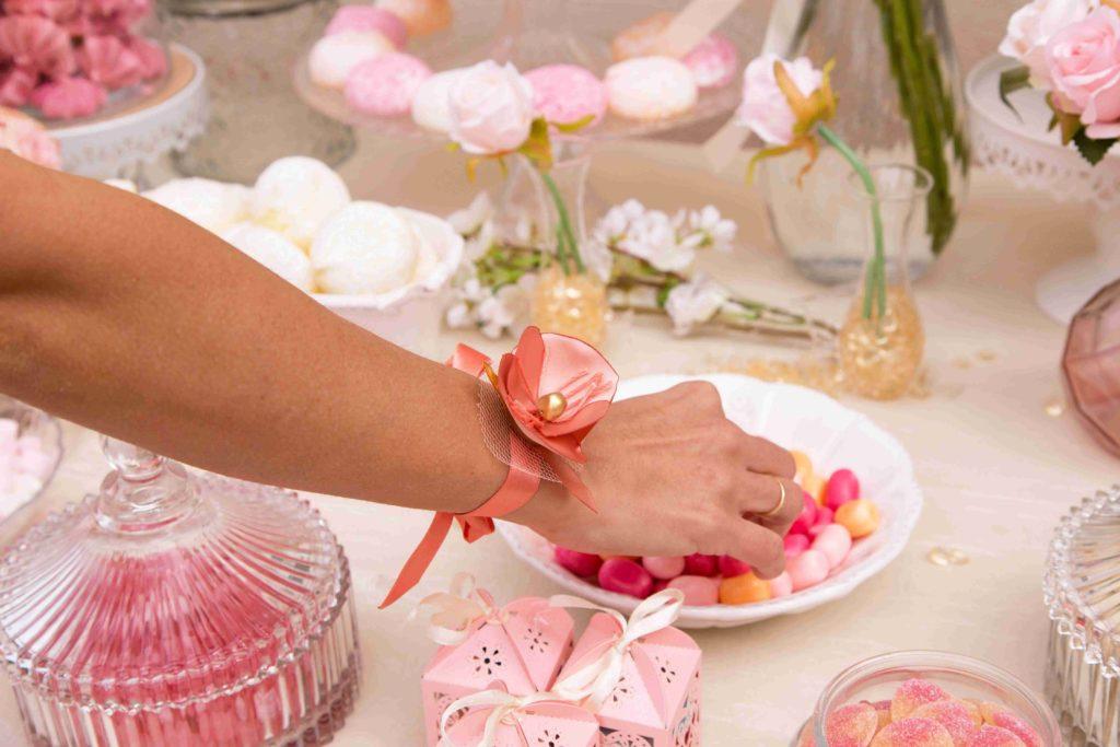 Bracelet coquelicot corail Alice Marty Accessoires mariage Albi Toulouse Bordeaux