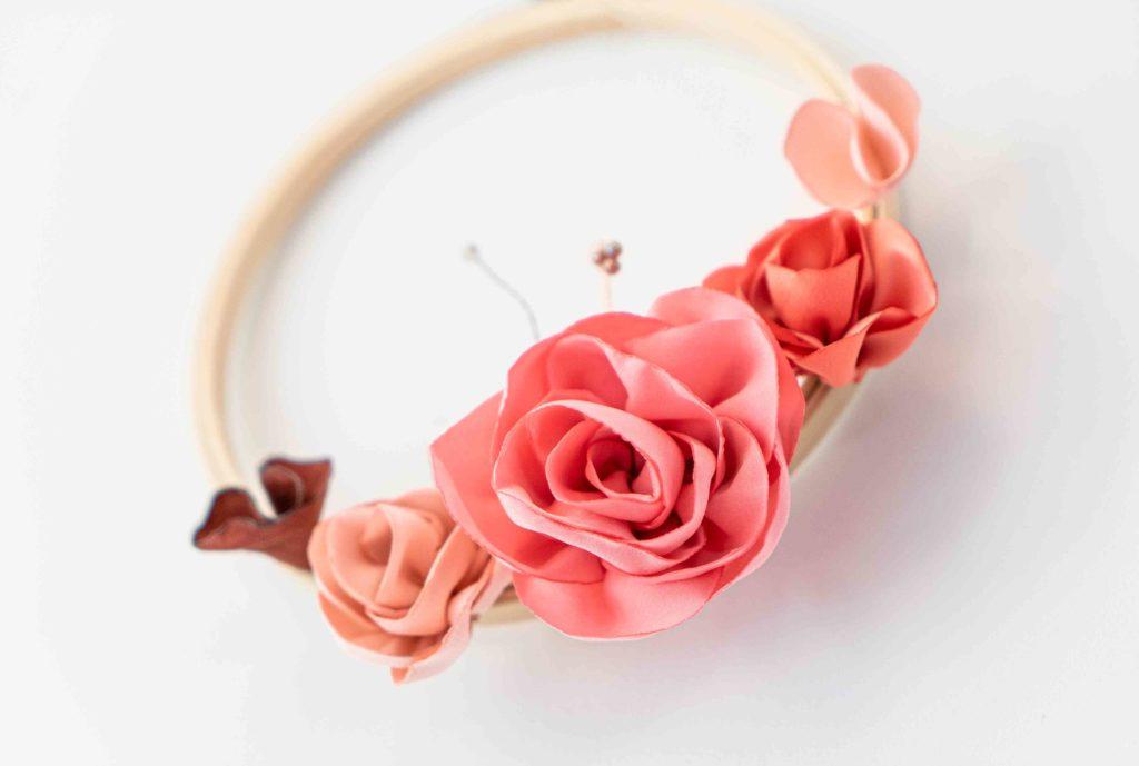 Tambour fleuri déco Showroom Alice Marty Créatrice d'accessoires mariage Toulouse Albi