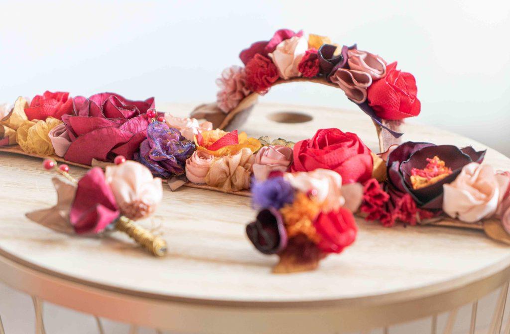 Parure automne Showroom Alice Marty Créatrice d'accessoires mariage Toulouse Albi