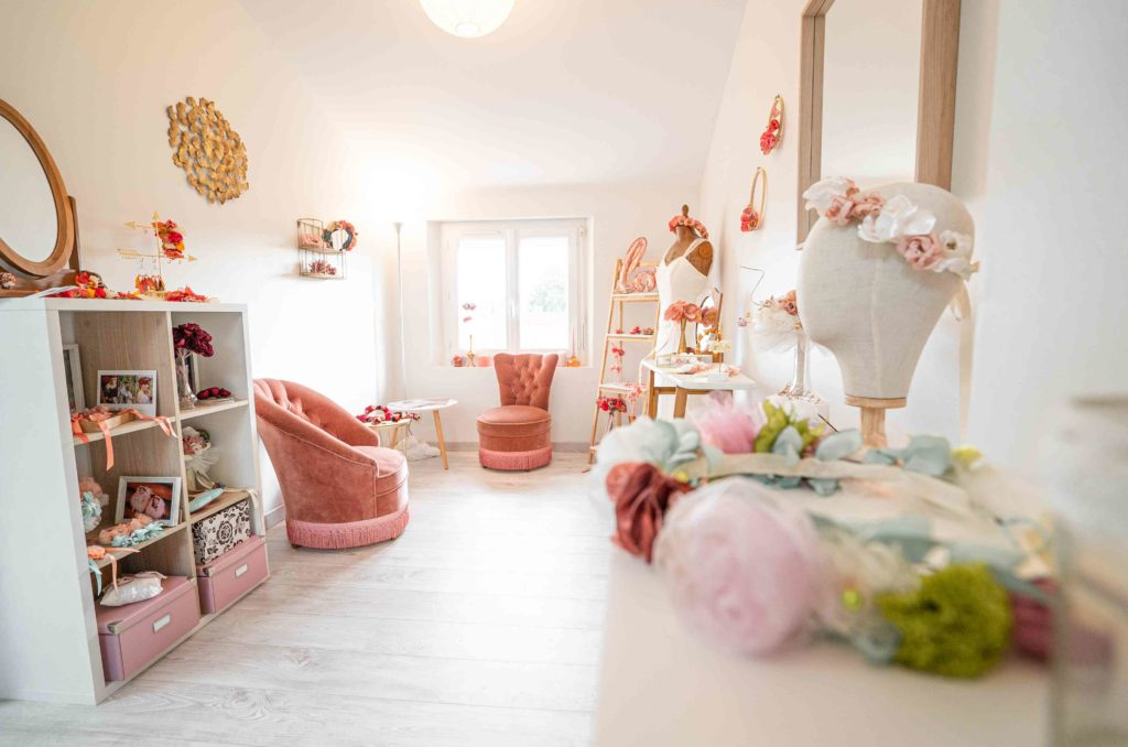Showroom Alice Marty Créatrice d'accessoires mariage Toulouse Albi