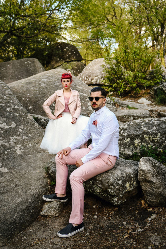 Couple rock Alice Marty Créatrice d'accessoires mariage Toulouse