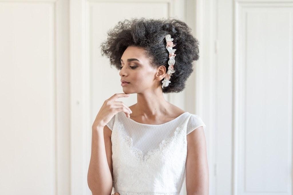 Alice Marty Créatrice d'accessoires mariage Double peigne fleuri Suzanne