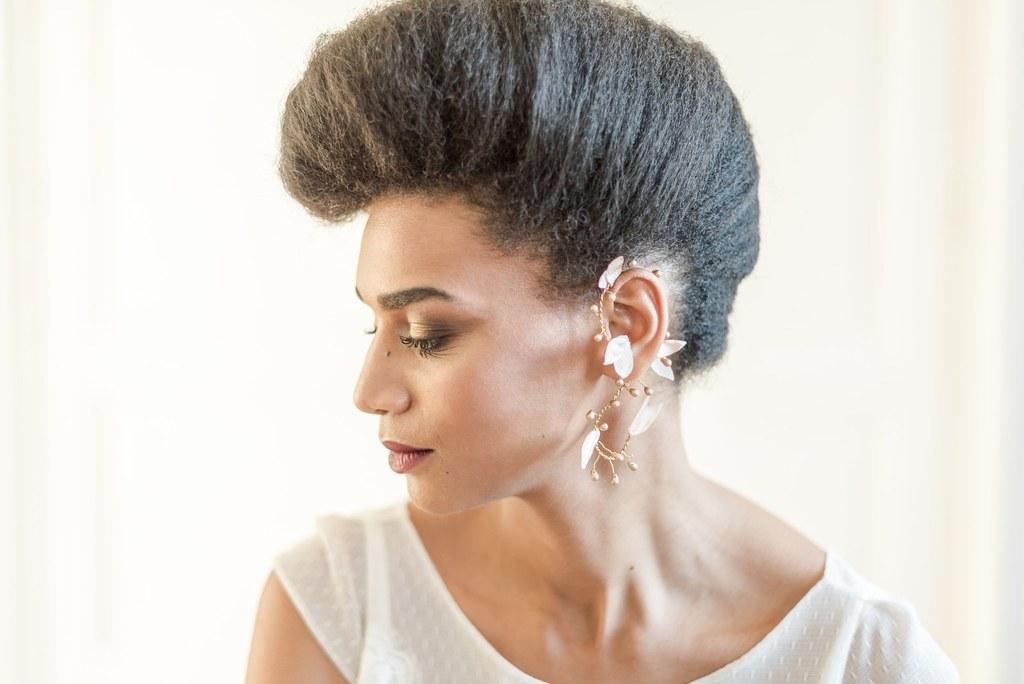 Alice Marty Créatrice d'accessoires mariage Ornement de coiffure Luce perles et petites feuilles