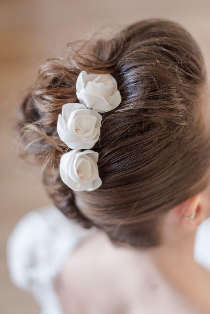 Alice Marty Créatrice d'accessoires mariage Trio d'épingles à chignon petites roses