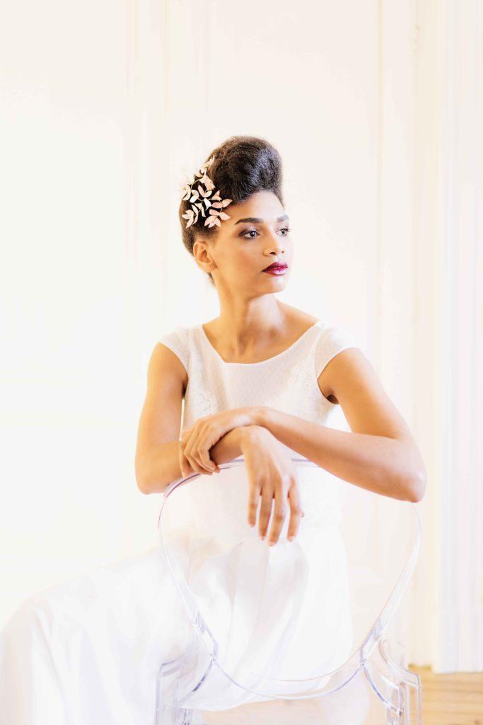 Alice Marty Créatrice d'accessoires mariage Ornement de coiffure petites feuilles