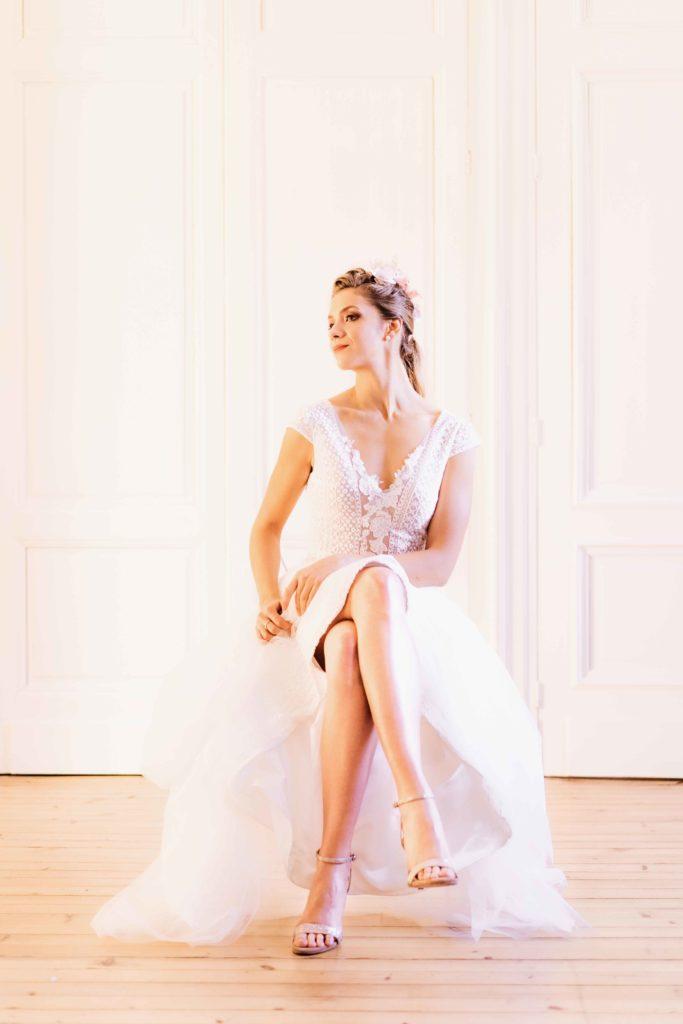Alice Marty Créatrice d'accessoires mariage Set d'épingles à chignon ivoire et nude