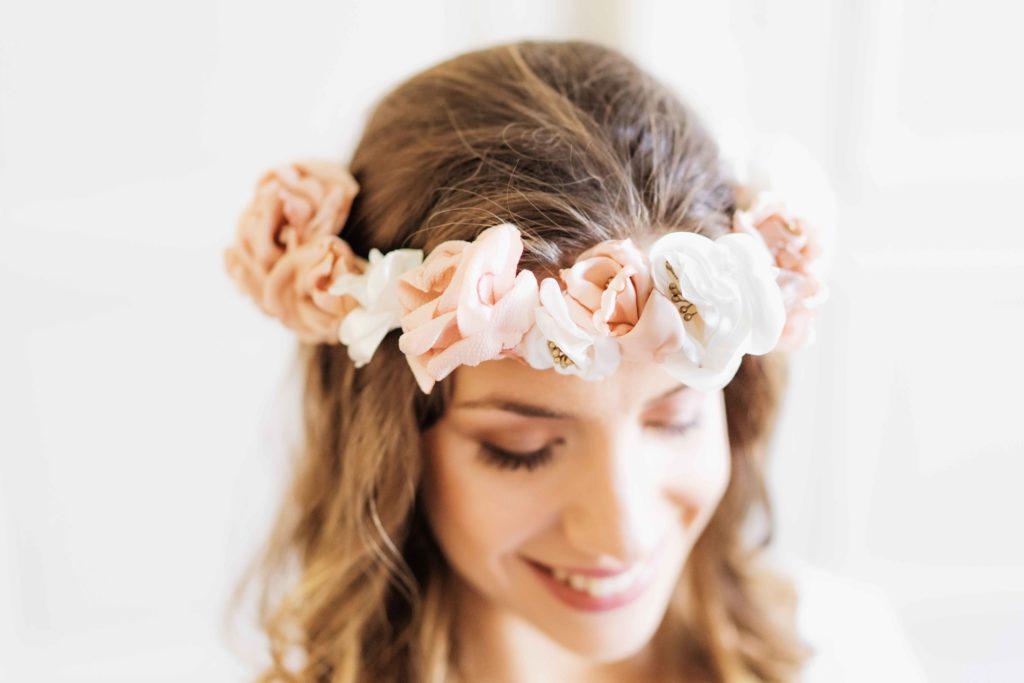 Alice Marty Créatrice d'accessoires mariage Couronne florale large Elisazbeth