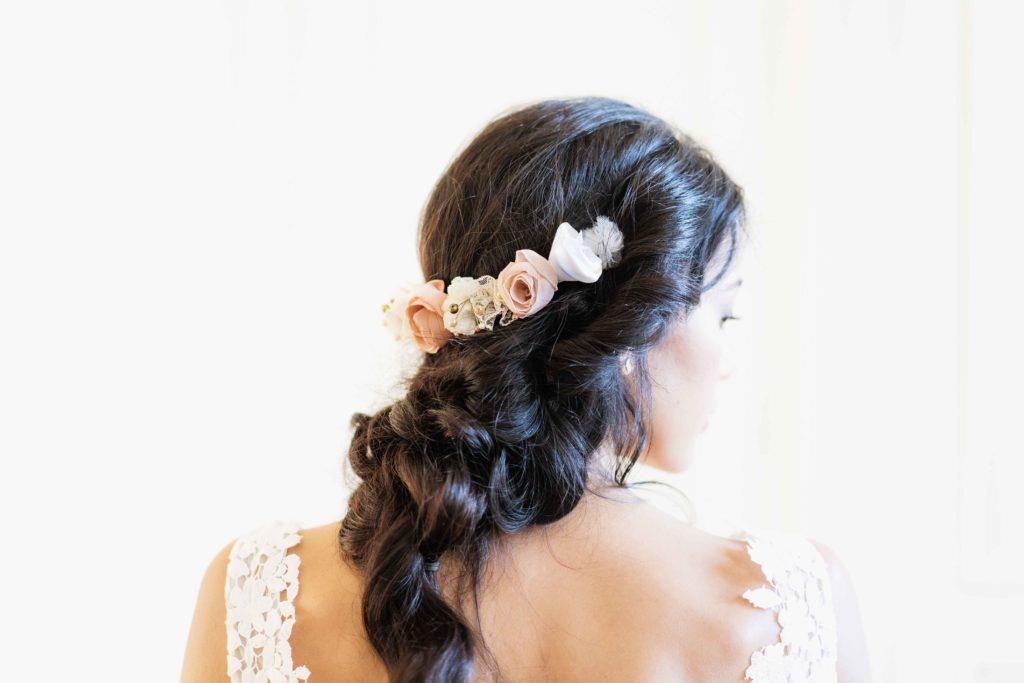 Alice Marty Créatrice d'accessoires mariage Couronne florale fine Joséphine