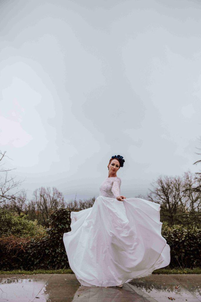 Alice Marty Couture florale Mariée couronne fleurie en tissu Albi Toulouse