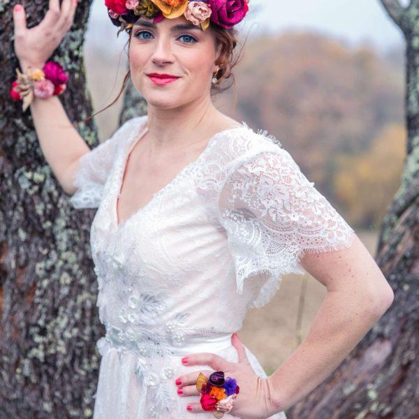 Bague Violette 1 Alice Marty - Couture florale Accessoires Mariage