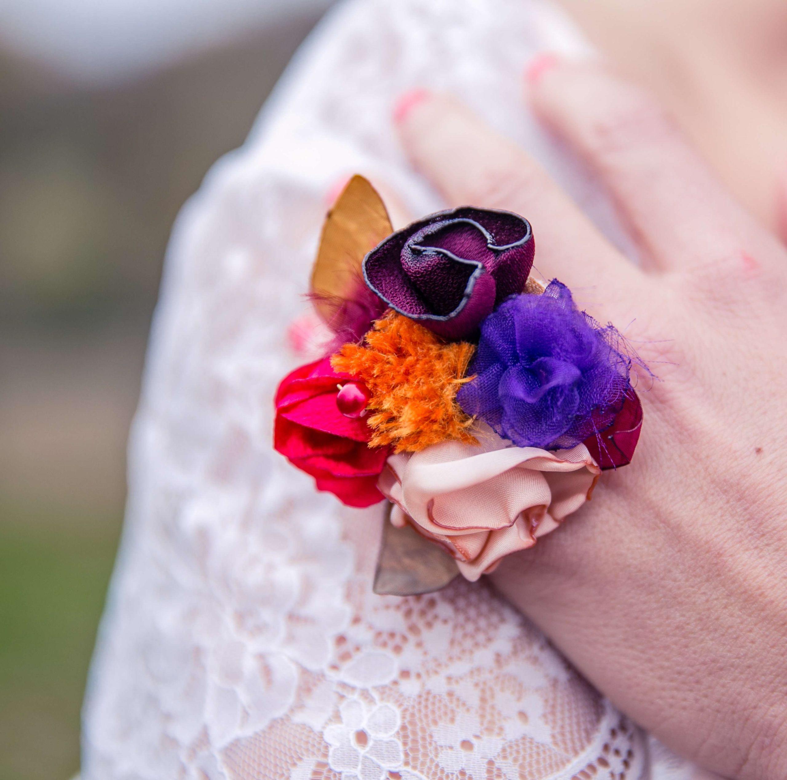 Bague Violette 2 Alice Marty - Couture florale Accessoires Mariage
