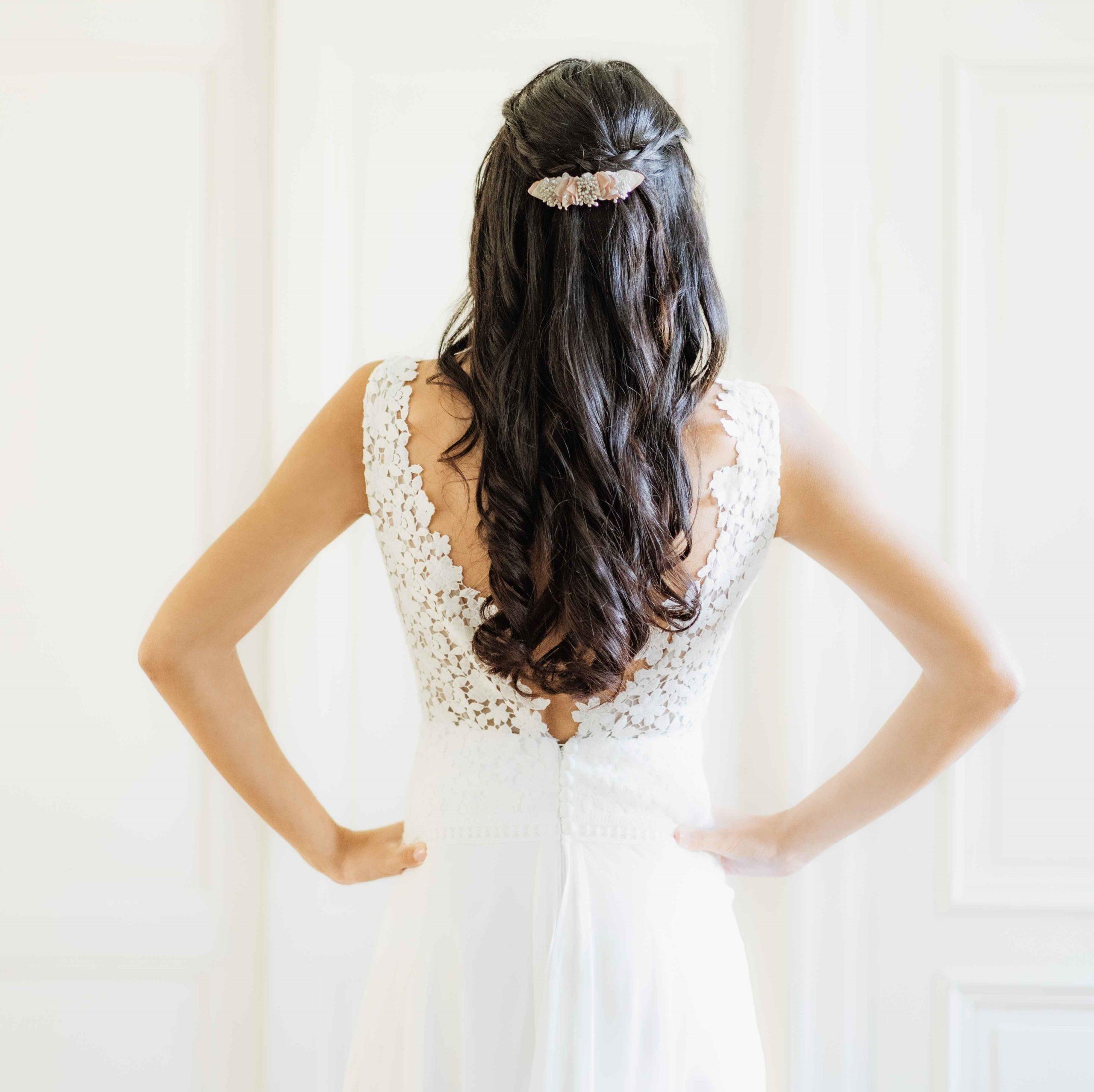 Barrette Solène 3 Alice Marty - Couture florale Accessoires Mariage