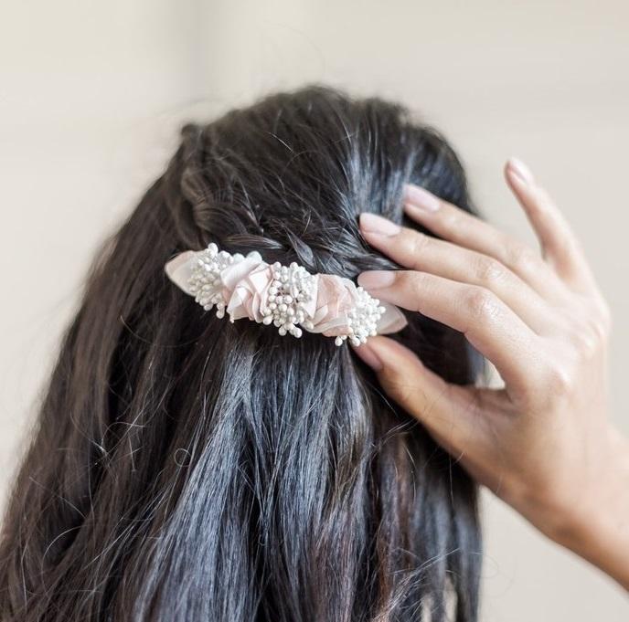Barrette Solène 4 Alice Marty - Couture florale Accessoires Mariage