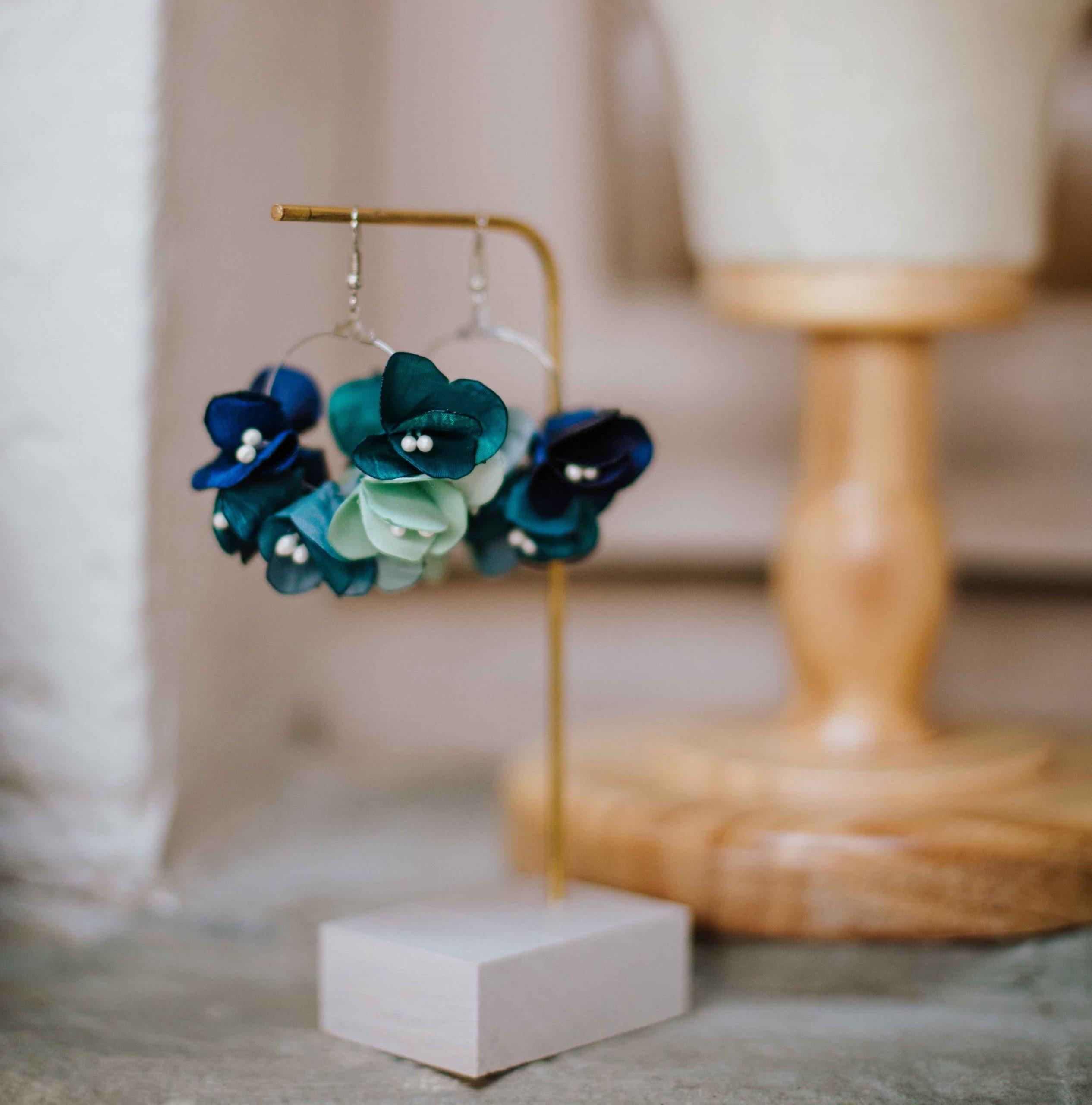 Boucles Armance bis 1 Alice Marty - Couture florale Accessoires Mariage
