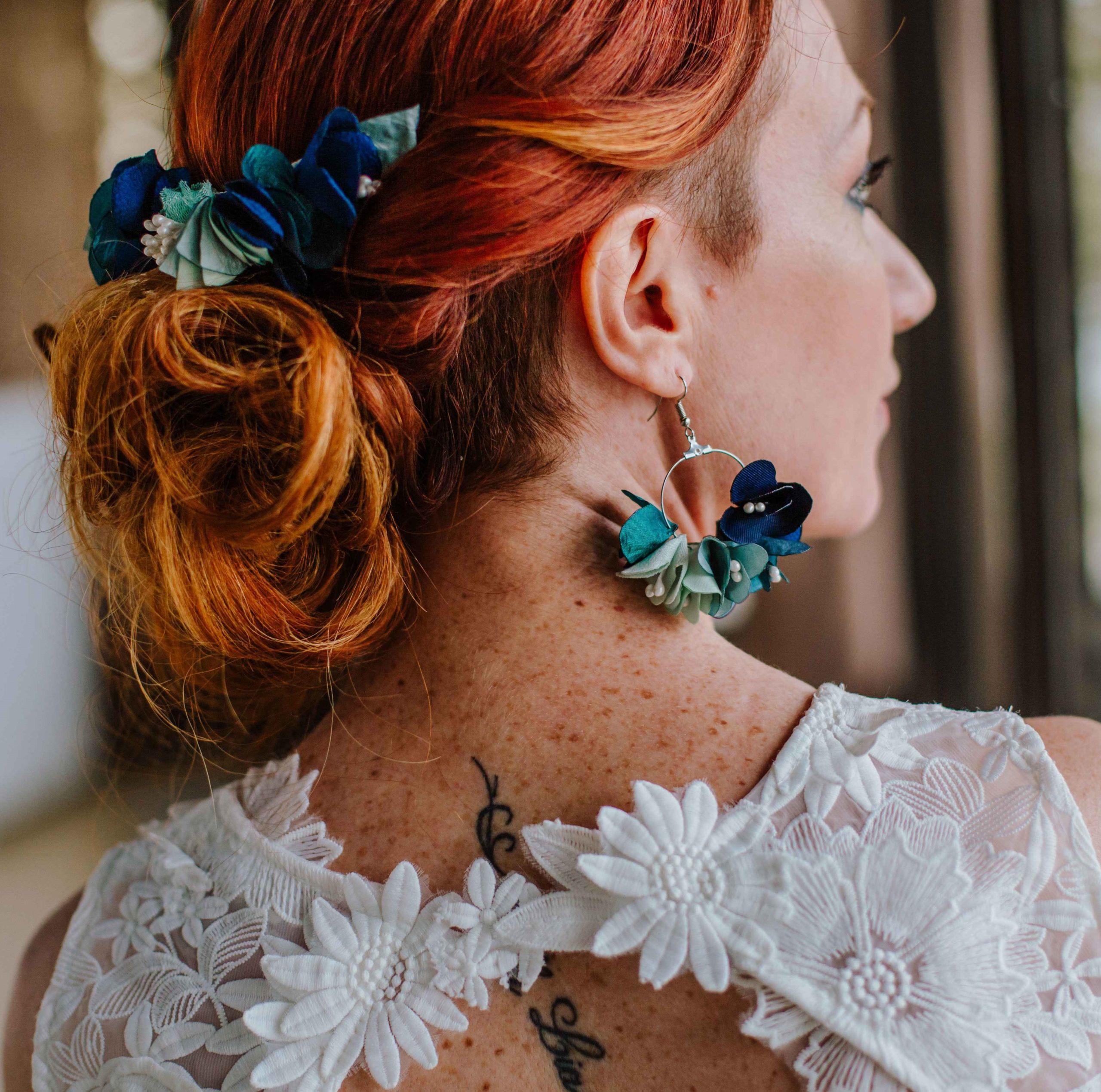 Boucles Armance bis 3 Alice Marty - Couture florale Accessoires Mariage