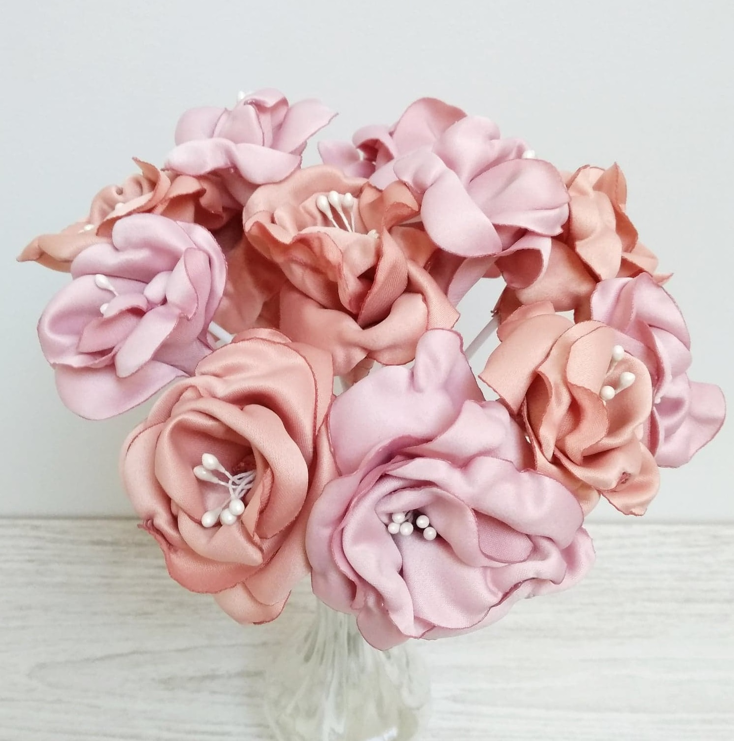 Bouquet roses anciennes 1 Alice Marty - Couture florale Accessoires Mariage