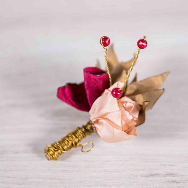 Boutonnière Marcel 1 Alice Marty - Couture florale Accessoires Mariage
