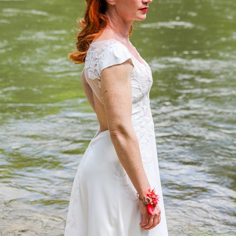 Bracelet Rose 2 Alice Marty - Couture florale Accessoires Mariage