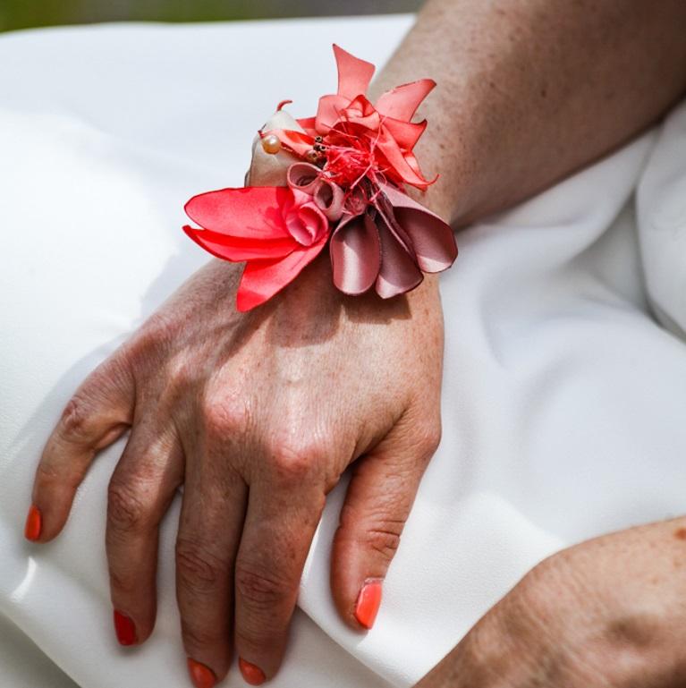 Bracelet Rose 4 Alice Marty - Couture florale Accessoires Mariage