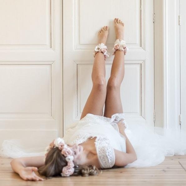 Bracelets cheville 3 Alice Marty - Couture florale Accessoires Mariage