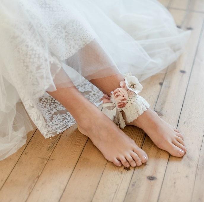 Bracelets cheville 4 Alice Marty - Couture florale Accessoires Mariage